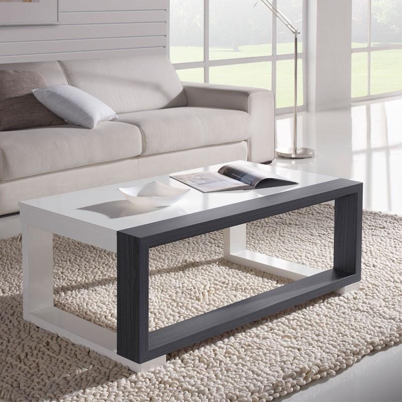 Table basse relevable Blanc/Cendre - UPTU