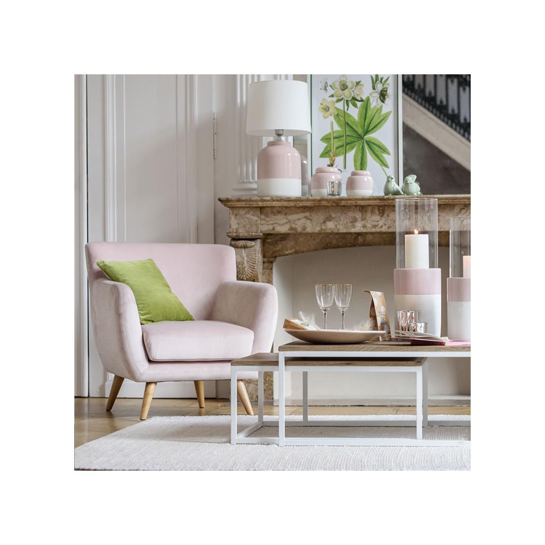 fauteuil velours vieux rose c ladon velly univers salon et assises. Black Bedroom Furniture Sets. Home Design Ideas