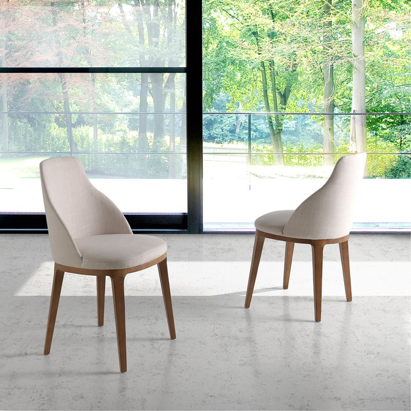 Chaise Beige Bois Tany Univers Salle A Manger Et Assises