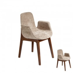 Duo de Chaises Marron clair - BRUSEL