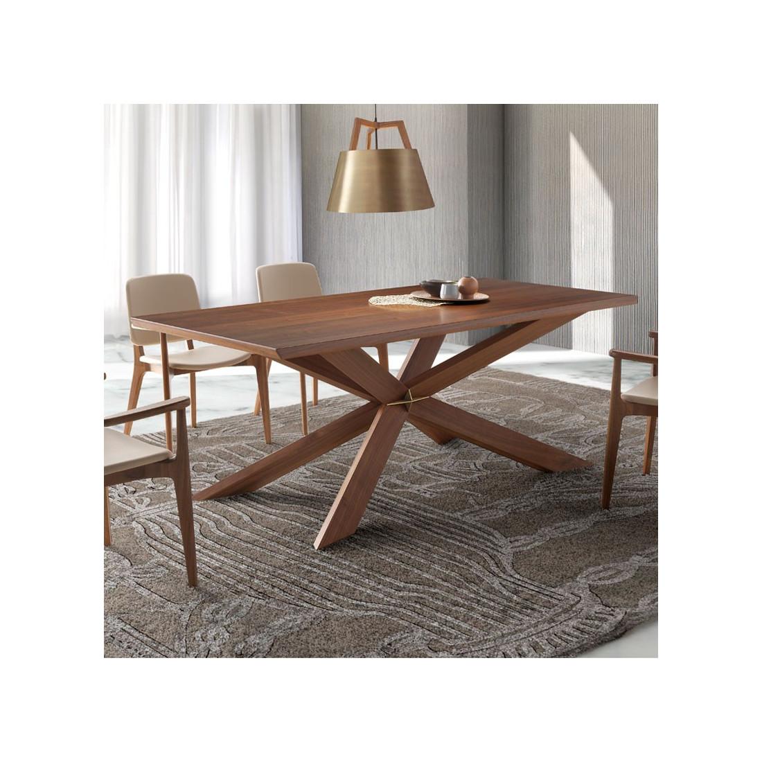 table de repas bois noyer walnut univers salle manger. Black Bedroom Furniture Sets. Home Design Ideas