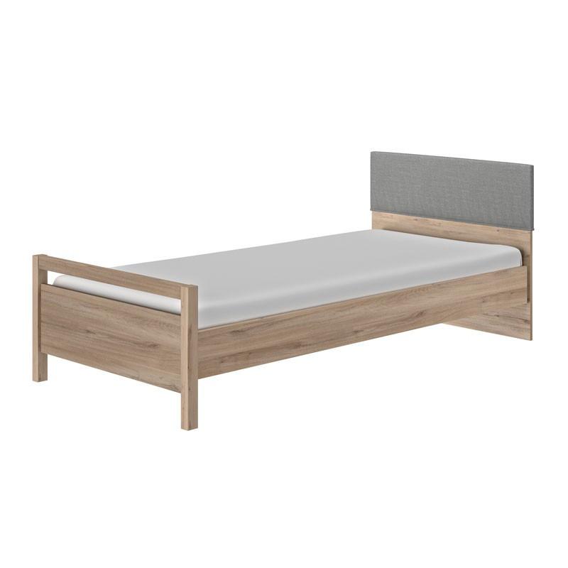 Cadre + Tête de lit 90*190 cm Chêne clair - TILY