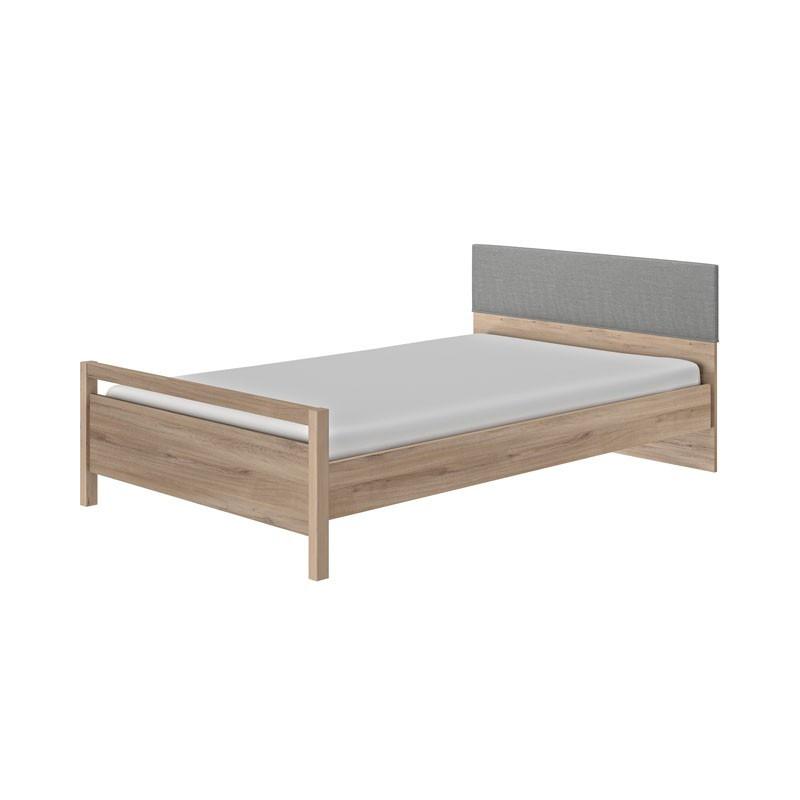 Cadre + Tête de lit 120*190 cm Chêne clair - TILY