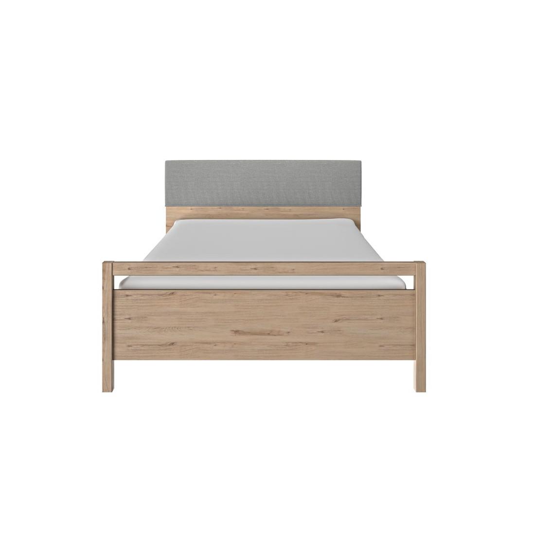 Cadre t te de lit 120 200 cm ch ne clair tily univers de la chambre - Tete de lit chene blanchi ...