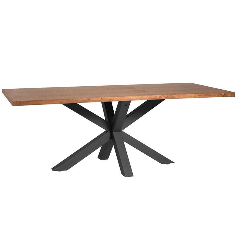 Table de repas Noyer et pieds Noirs - KALA