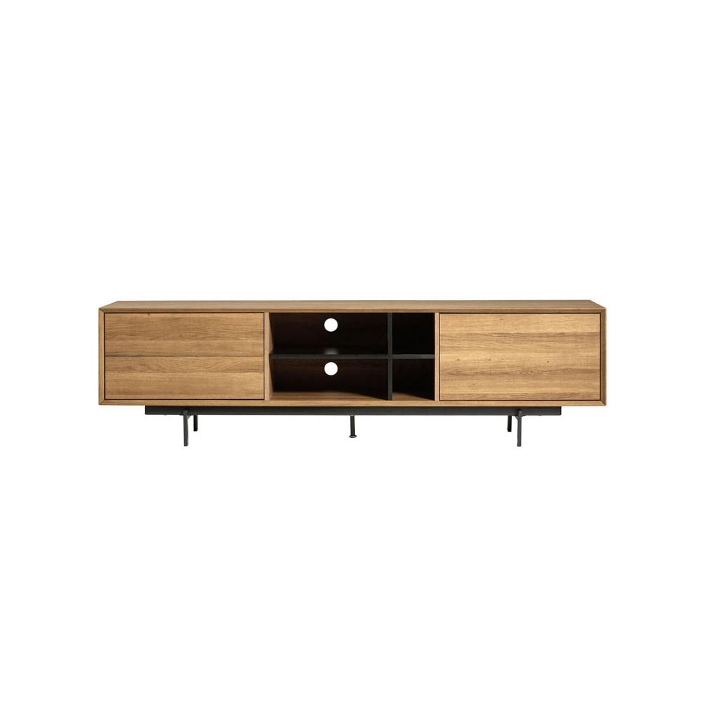Meuble TV Bois 2 tiroirs 1 porte - TRIBECA