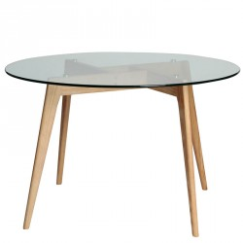 Table de repas Ronde Verre/Frêne - SAMBA