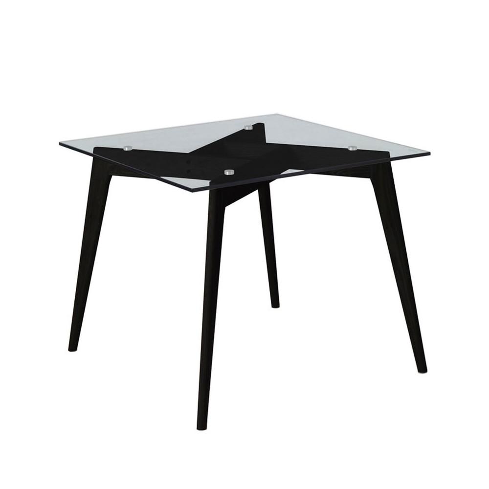 Table de repas Carrée Verre/Noir - SAMBA