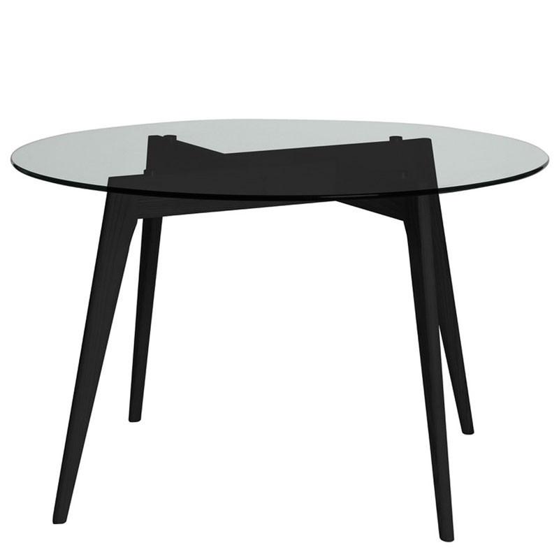 Table de repas Ronde Verre/Noir - SAMBA