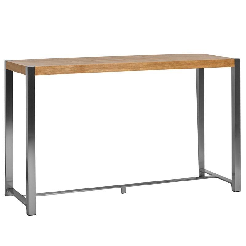 Table haute Chêne et pieds Acier - BONZAÏ