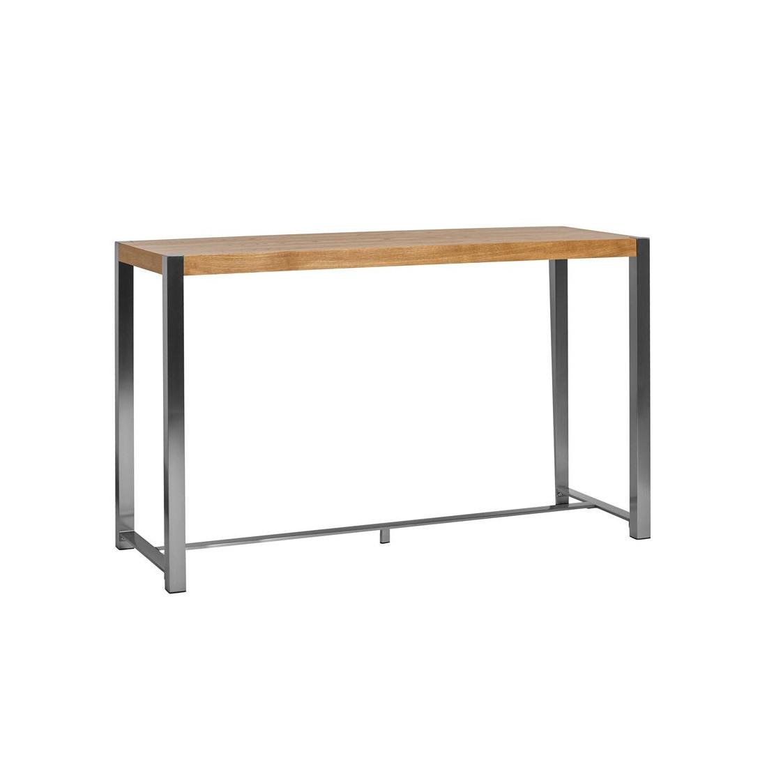 table haute ch ne pieds acier bonzai univers salle manger. Black Bedroom Furniture Sets. Home Design Ideas
