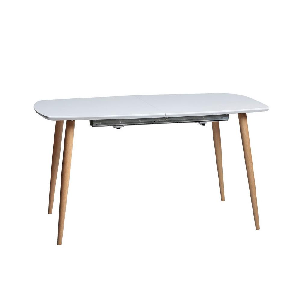 Table de repas rectangulaire Blanche à allonge - AQUATA