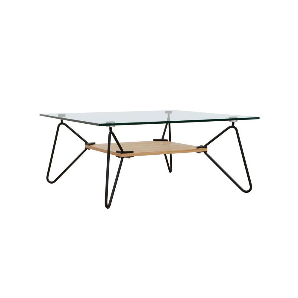 Table basse Piétement filiforme Noir - COLETTE