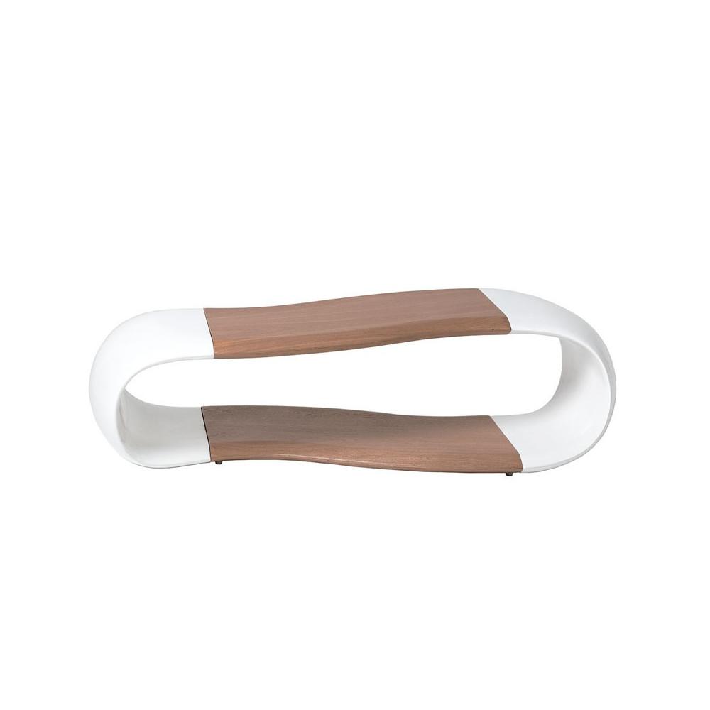 Table basse Bois/Fibre de verre Blanc - SAHI