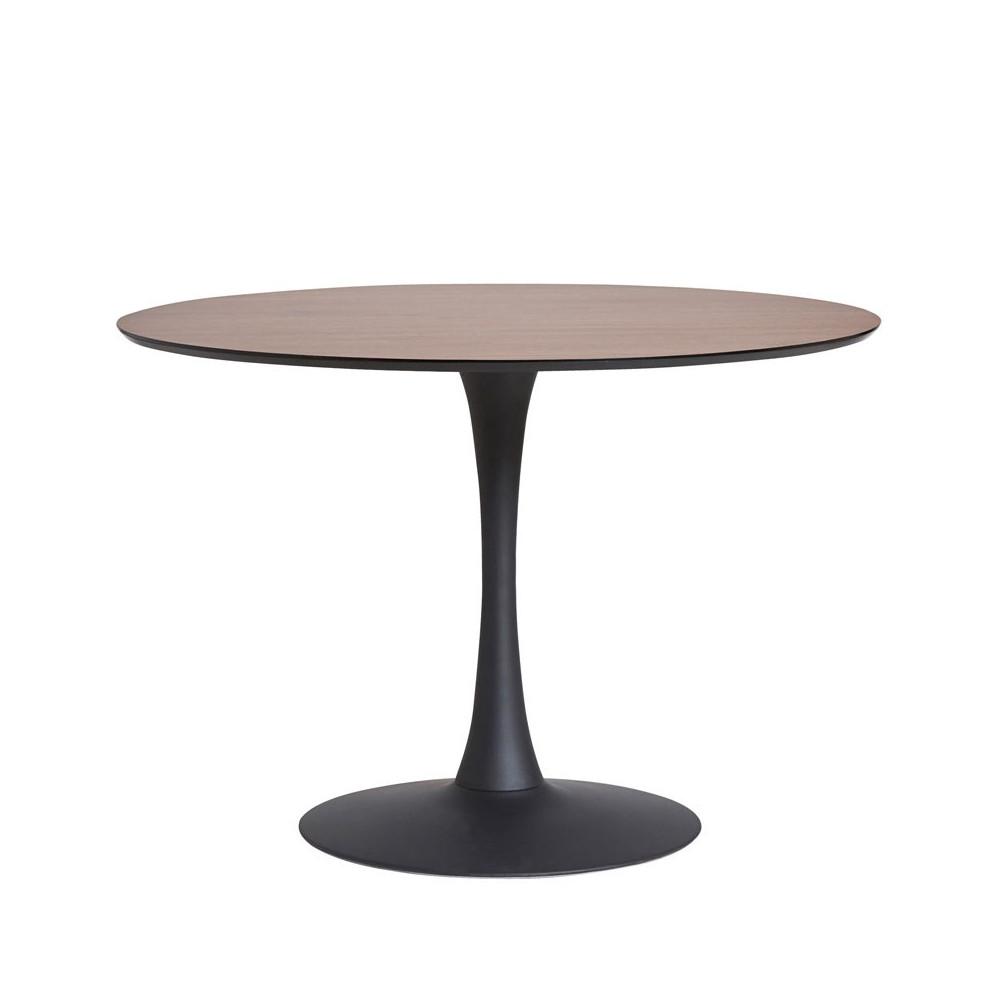 Table de repas ronde Noyer/Noir pied central - STILL