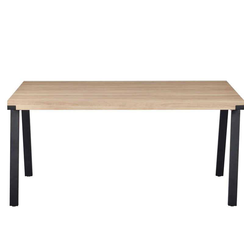 Table de repas Chêne et pieds Métal Noirs - DOM