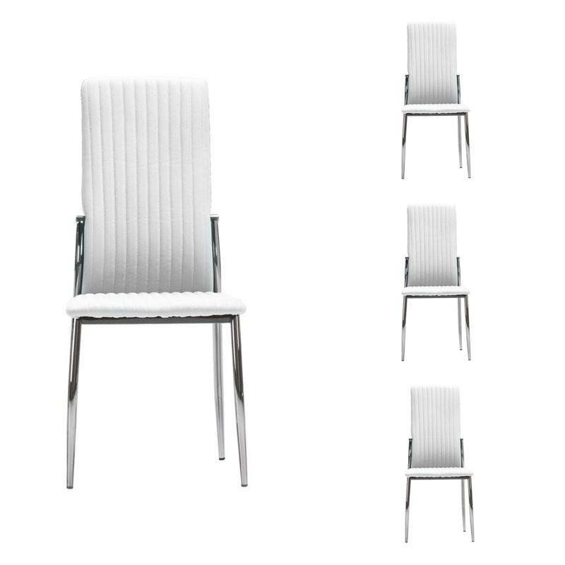 Quatuor de chaises Grises - DIXON