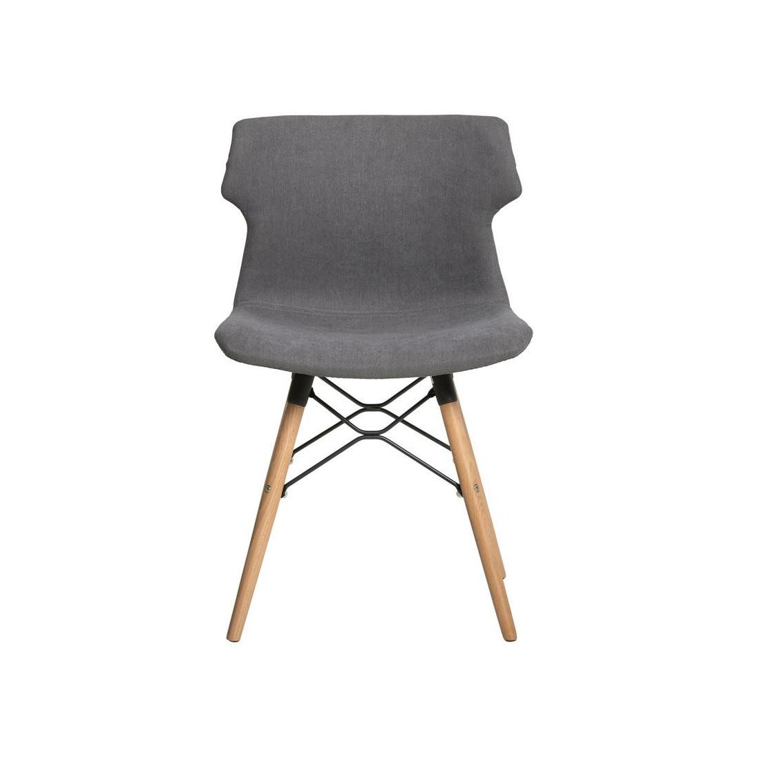 chaise tissu gris anthracite amazing chaise lf lot de fauteuils kenna tissu gris fonc with. Black Bedroom Furniture Sets. Home Design Ideas