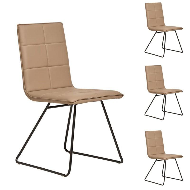 Quatuor de chaises Camel - OSIRIS