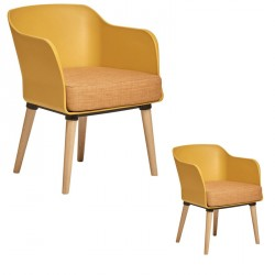 Duo de Fauteuils Jaune - PAUL