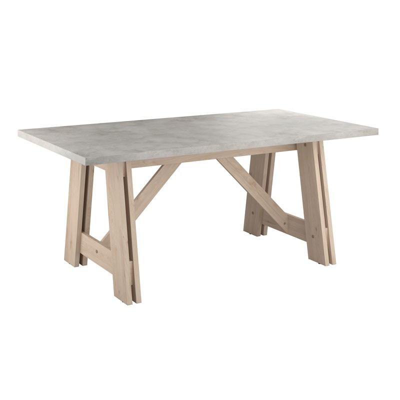 Table de repas bois béton industriel - Univers Salle à Manger : Tousmesmeubles