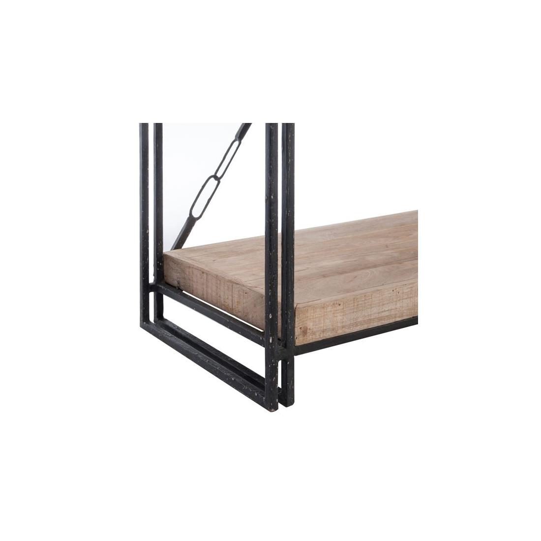biblioth que bois m tal 5 tag res bianca univers du bureau. Black Bedroom Furniture Sets. Home Design Ideas