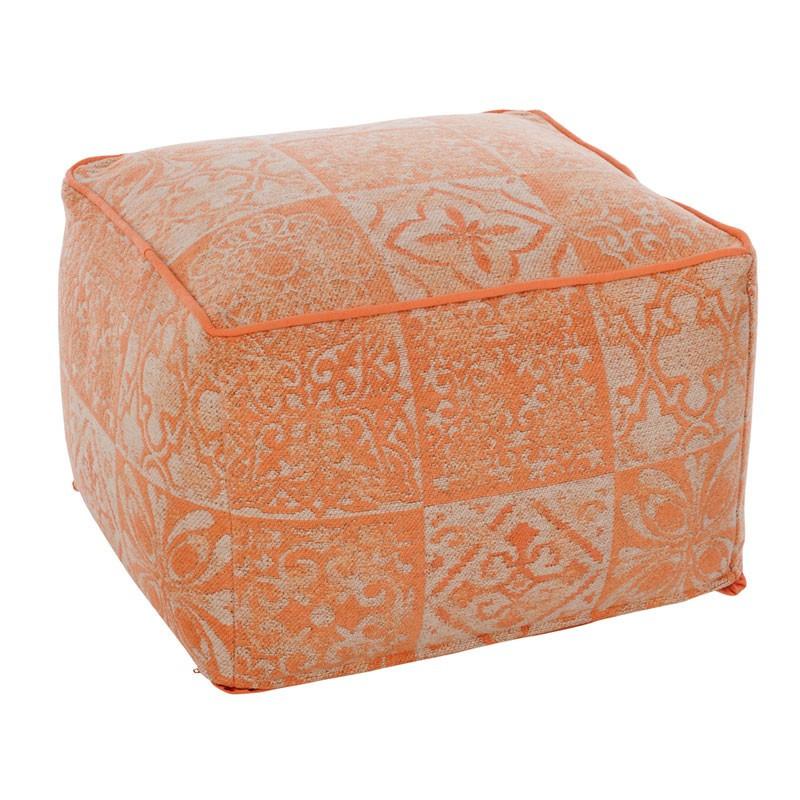 Pouf carré Corail motifs carreaux de ciment - ARMAND