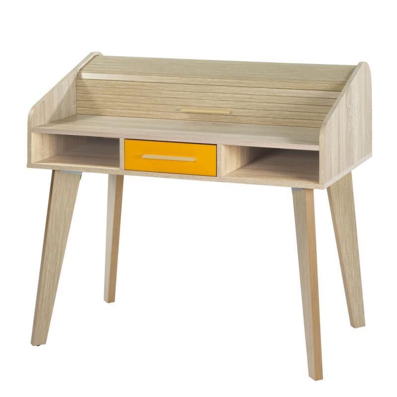Bureau à rideau 1 tiroir - ARKOS n°8