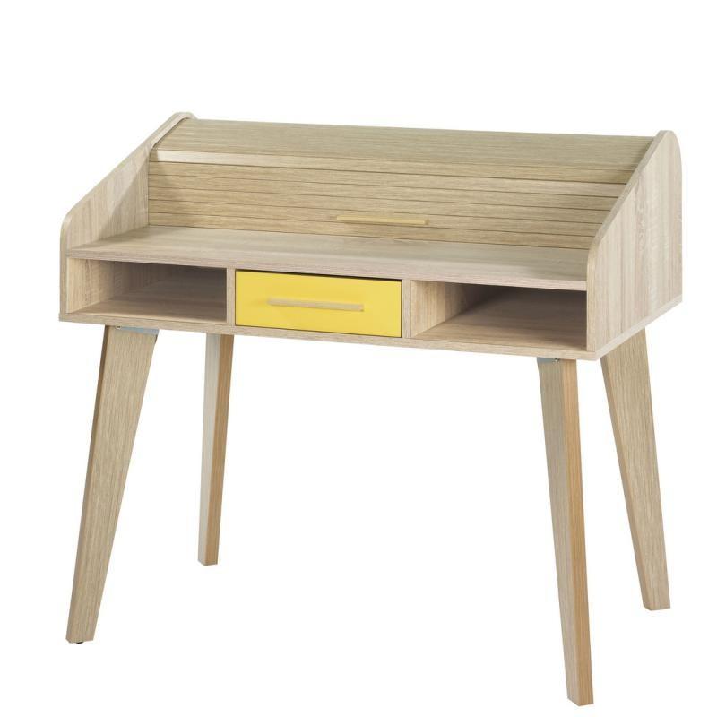 Bureau à rideau 1 tiroir - ARKOS n°11