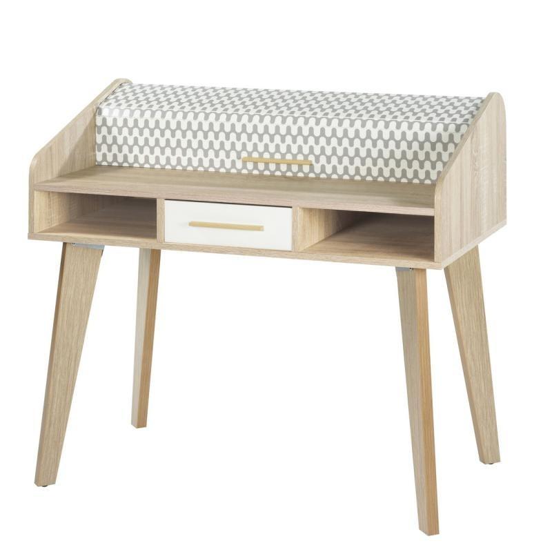 Bureau à rideau 1 tiroir - ARKOS n°15