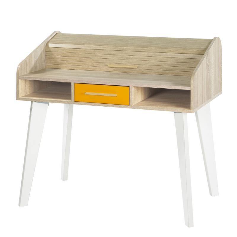 Bureau à rideau 1 tiroir - ARKOS n°16
