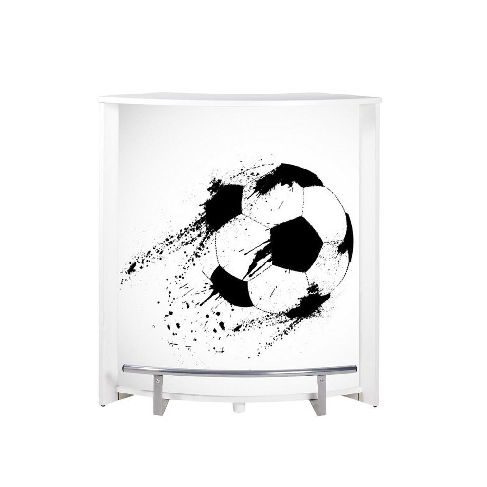 Comptoir de bar petit Blanc ballon football MING n°14 - Univers Salon : Tousmesmeubles