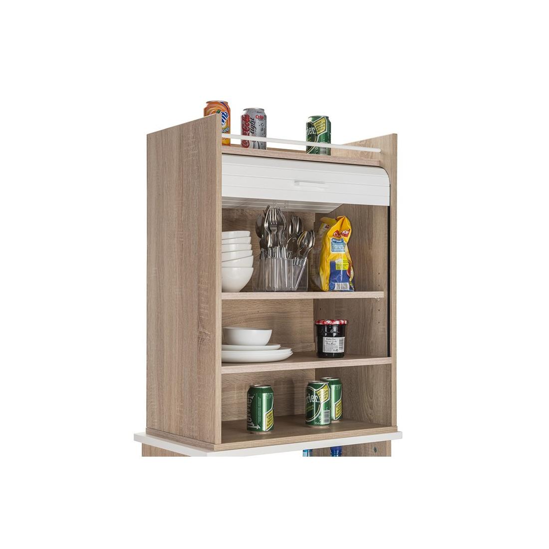 meuble de rangement cuisine rideau blanc bois luke. Black Bedroom Furniture Sets. Home Design Ideas