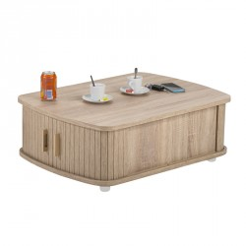 Table basse à rideaux Bois - WAMPA
