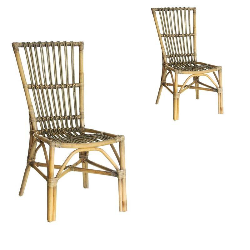 Duo de chaises en Rotin - TANAR n°1