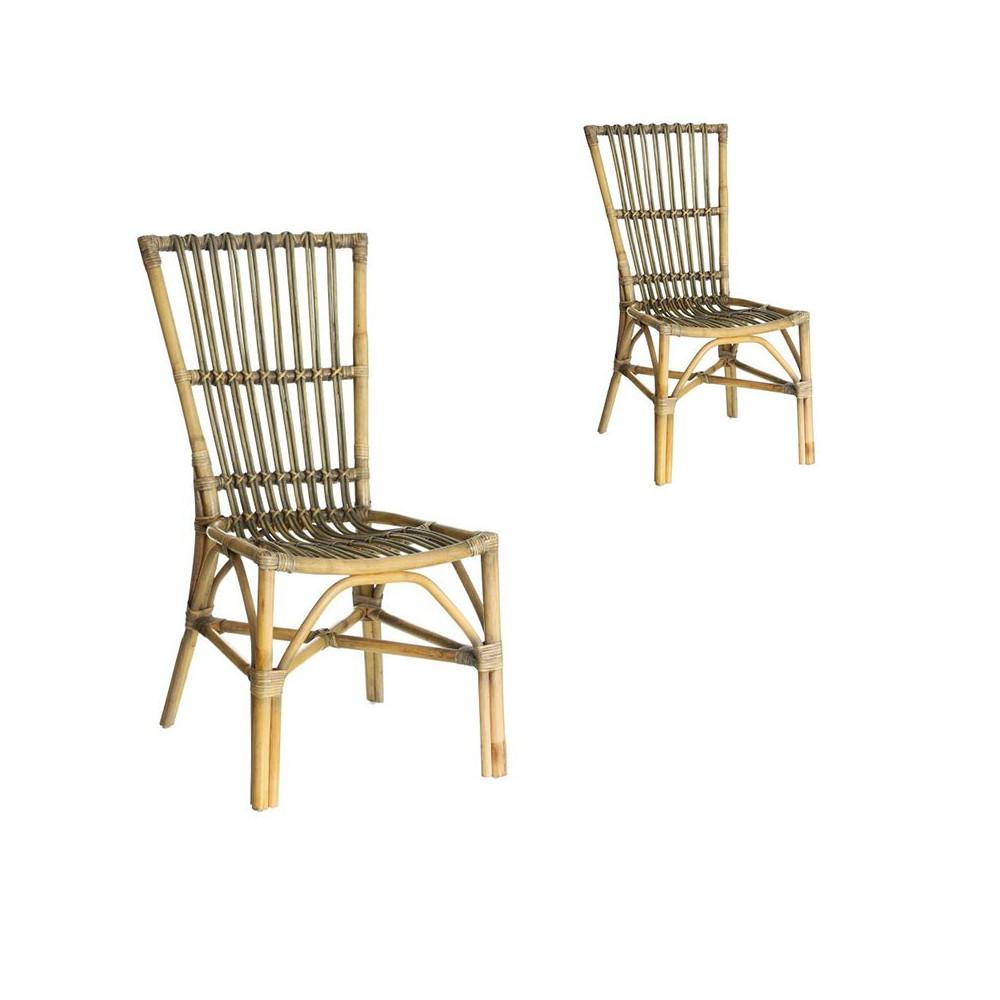 Duo de chaises en Rotin - TANAR