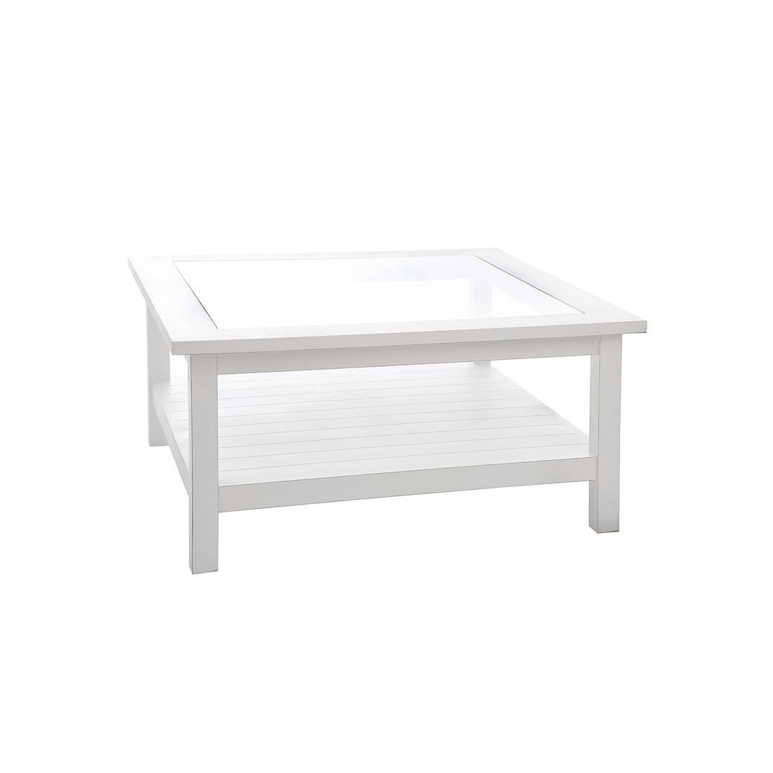 table basse blanche eve univers du salon tousmesmeubles. Black Bedroom Furniture Sets. Home Design Ideas