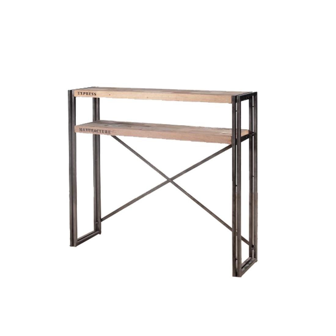 console 2 plateaux industry univers du salon. Black Bedroom Furniture Sets. Home Design Ideas