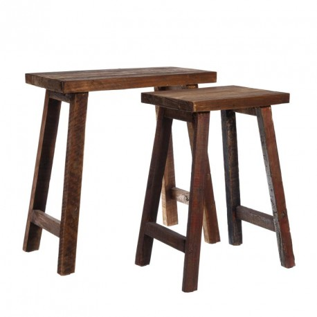 Set de 2 tables d'appoints Bois - SILKY