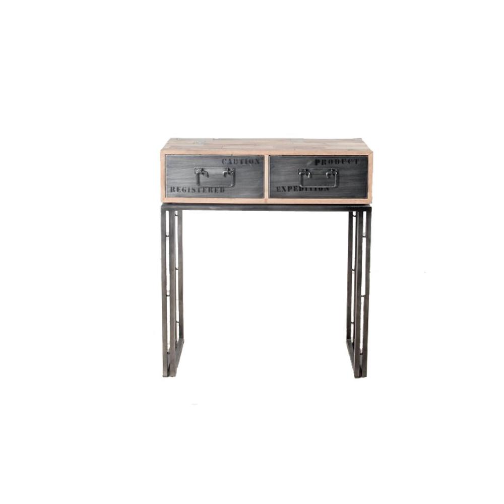 Console en bois 2 tiroirs - INDUSTRY