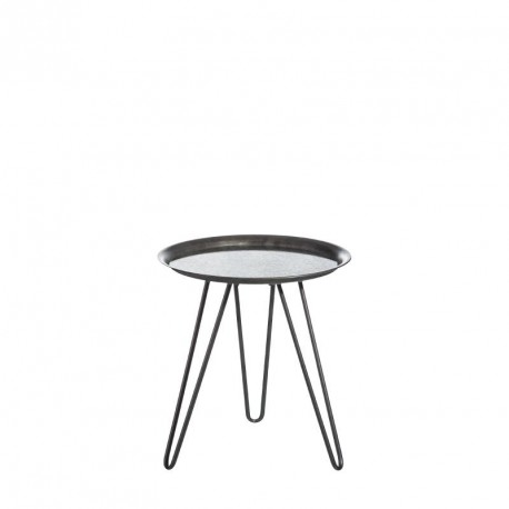 Table d'appoint Grise/Miroir taille S - CRUSH