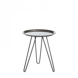Table d'appoint Grise/Miroir taille M - CRUSH