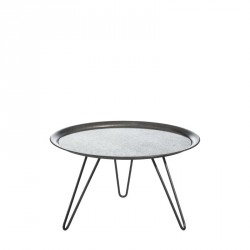 Table d'appoint Grise/Miroir taille L - CRUSH