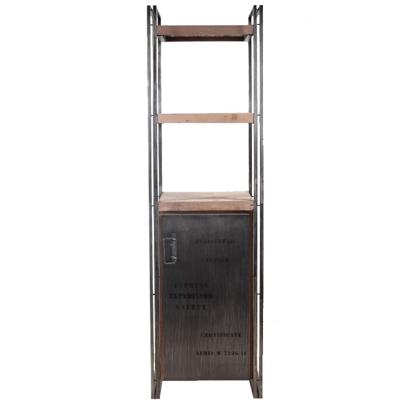 biblioth que 1 porte industry univers du salon tousmesmeubles. Black Bedroom Furniture Sets. Home Design Ideas