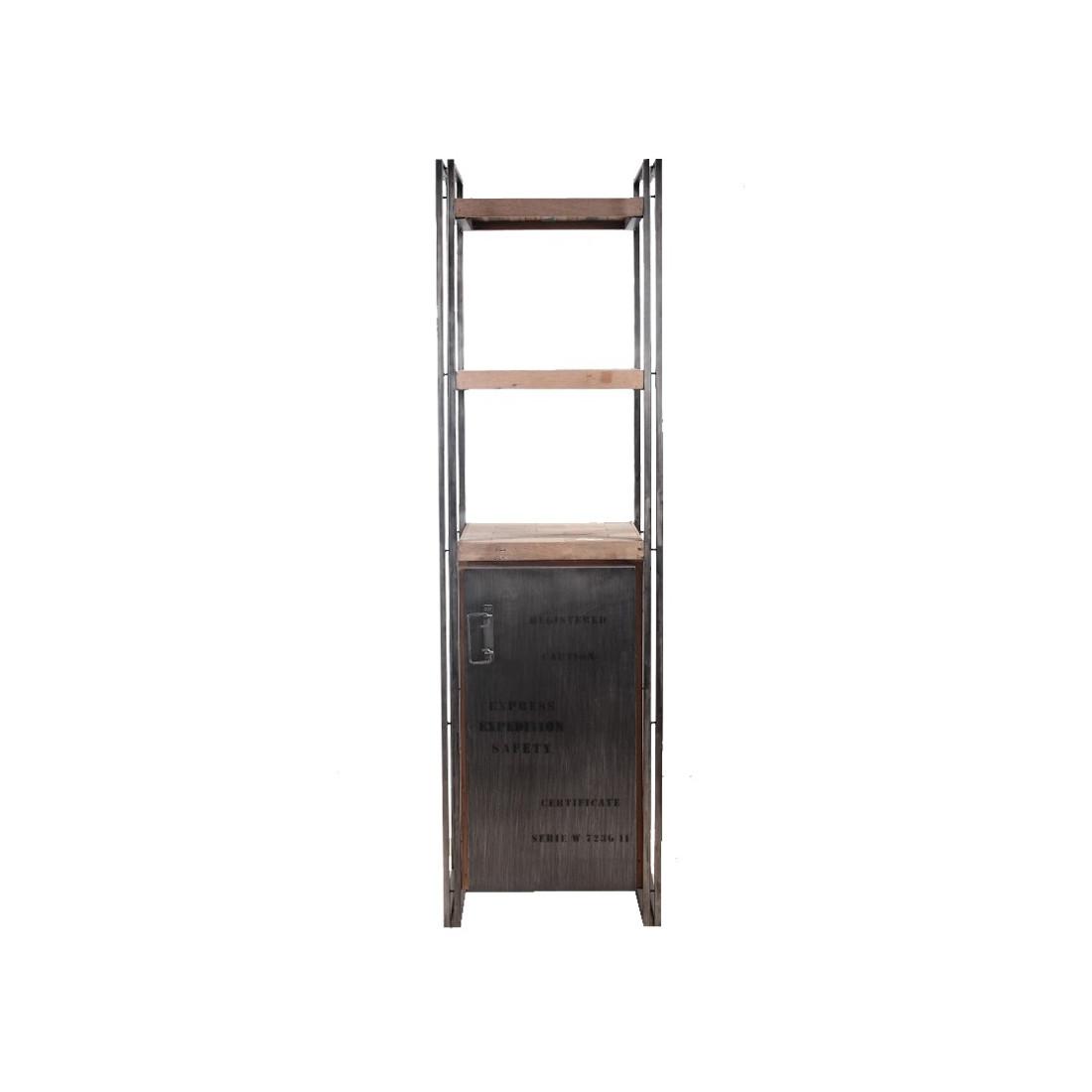 biblioth que 1 porte industry univers du salon tousmesmeubles. Black Bedroom Furniture Sets. Home Design Ideas
