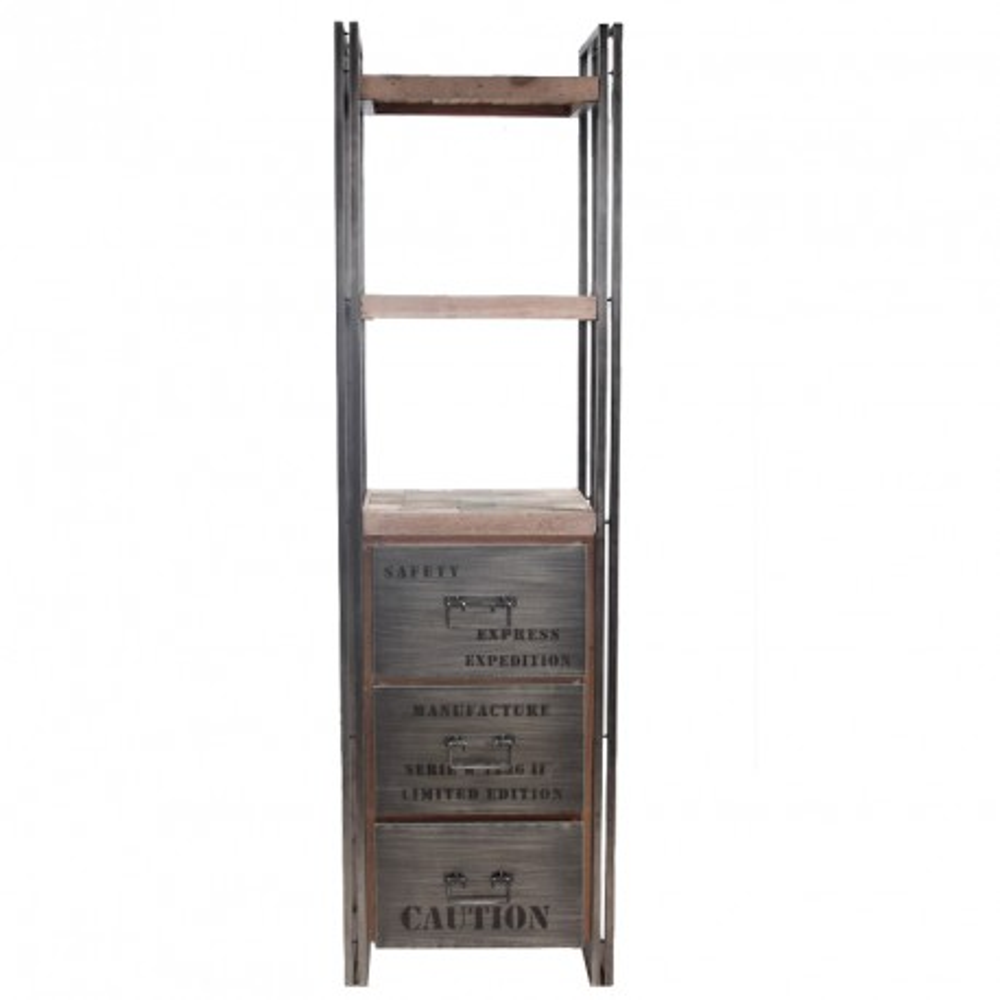 Bibliothèque en bois 3 tiroirs - INDUSTRY