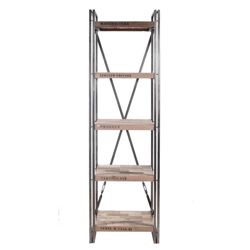 Bibliothèque en bois 5 plateaux - INDUSTRY