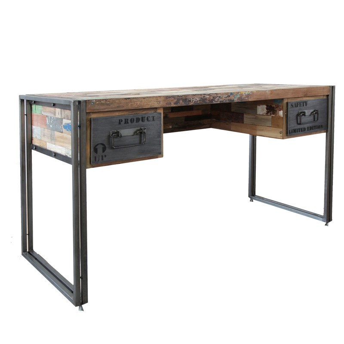 bureau en bois industry univers du salon tousmesmeubles. Black Bedroom Furniture Sets. Home Design Ideas