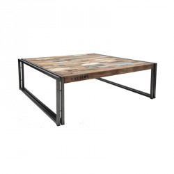 Table basse en bois 100 cm² - INDUSTRY