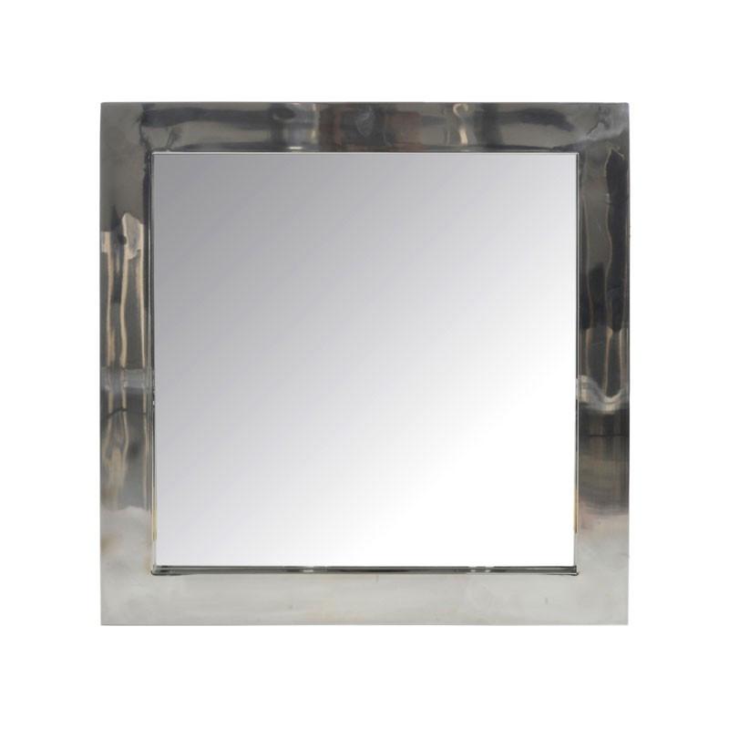 Miroir carré Acier Argenté - HASH